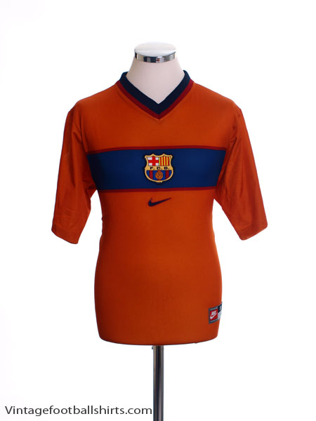 6afbe7fa5 1998-00 Barcelona Third Shirt M for sale