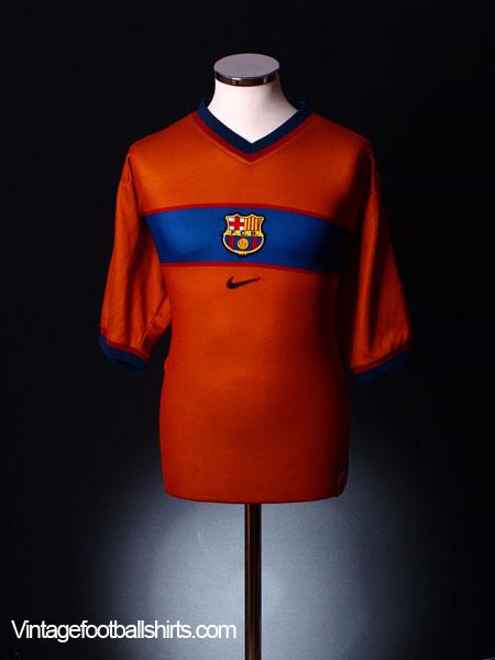 1998-00 Barcelona Third Shirt L