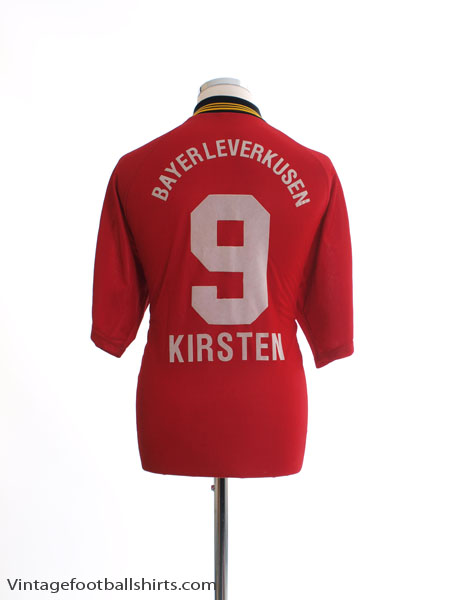 1998-00 Bayer Leverkusen Home Shirt Kirsten #9 M