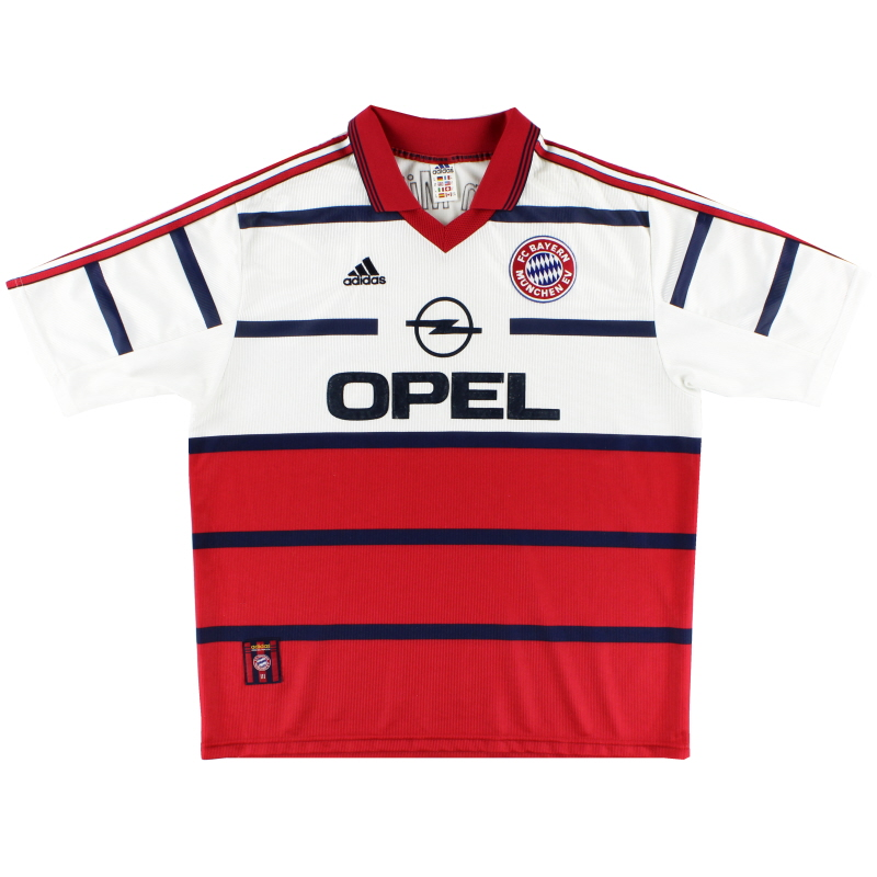 1998-00 Bayern Munich adidas Away Shirt L
