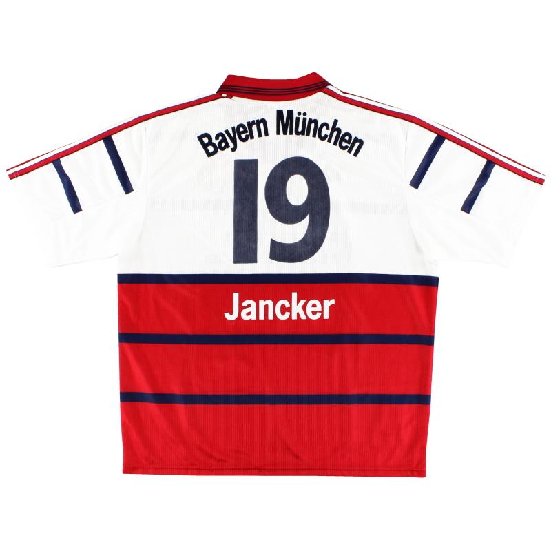 1998-00 Bayern Munich Away Shirt Jancker #19 XL