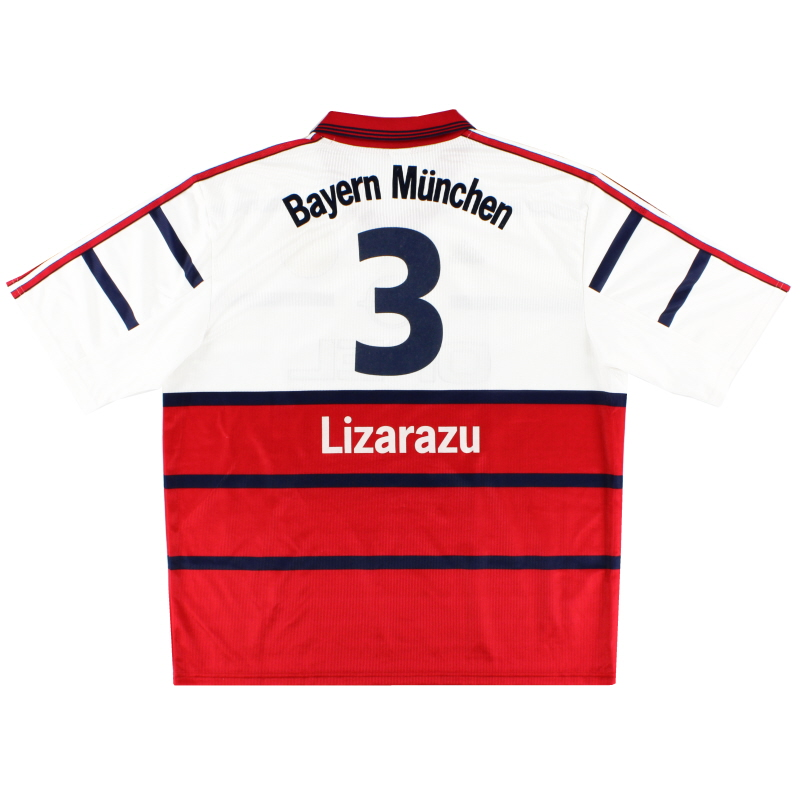 1998-00 Bayern Munich Away Shirt Lizarazu #3 XXL