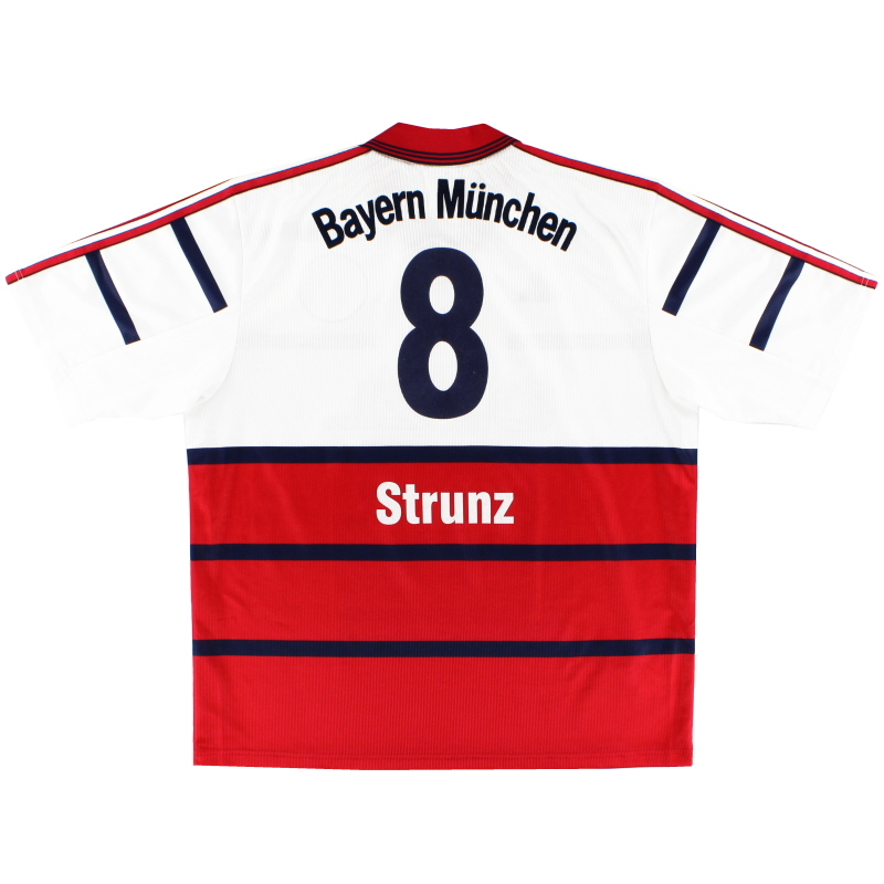 1998-00 Bayern Munich Away Shirt Strunz #8 XL