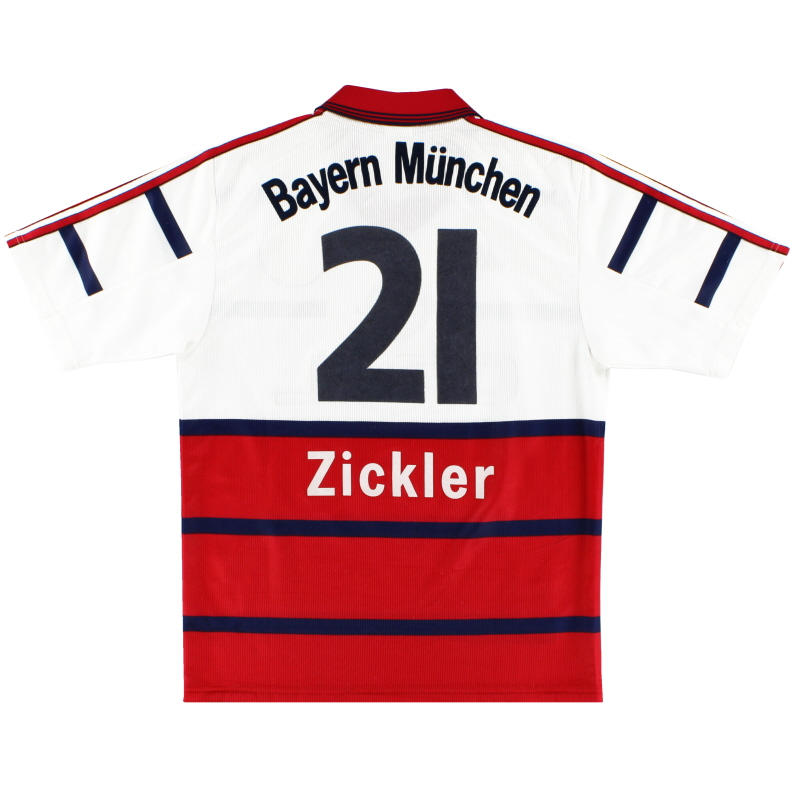 1998-00 Bayern Munich Away Shirt Zickler #21 S