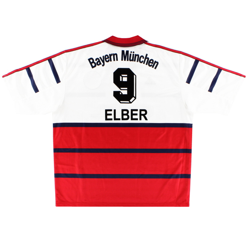 1998-00 Bayern Munich Away Shirt Elber #9 XL