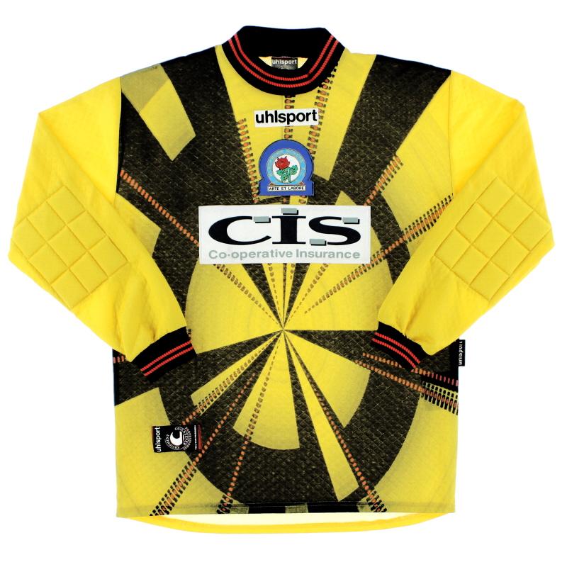 1998-00 Blackburn Uhlsport Goalkeeper Shirt XS