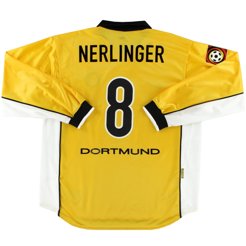 1998-00 Borussia Dortmund Home Shirt Nerlinger #8 L/S XL
