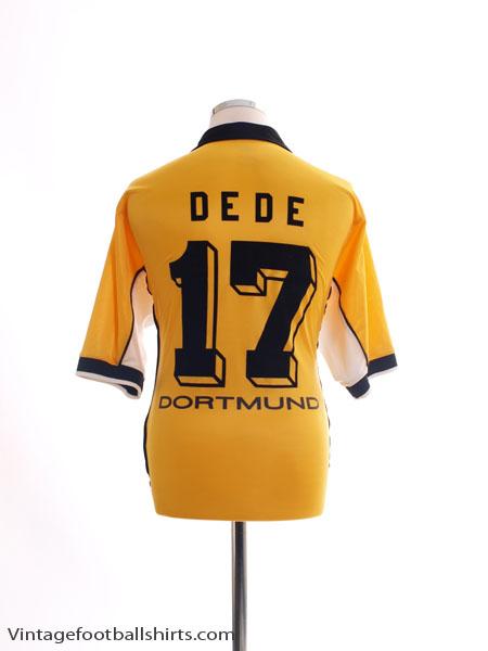 1998-00 Borussia Dortmund Home Shirt Dede #17 L