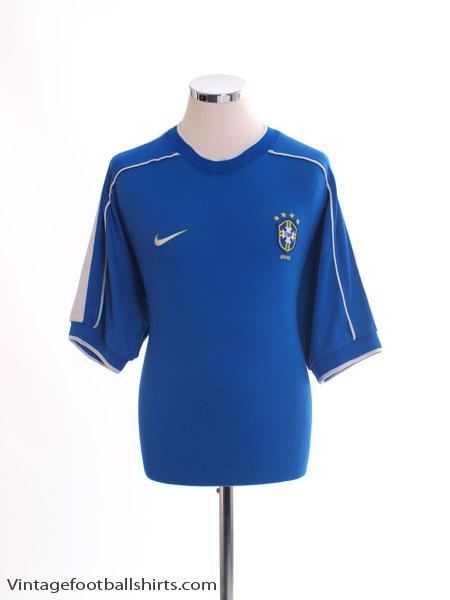 1998-00 Brazil Away Shirt M