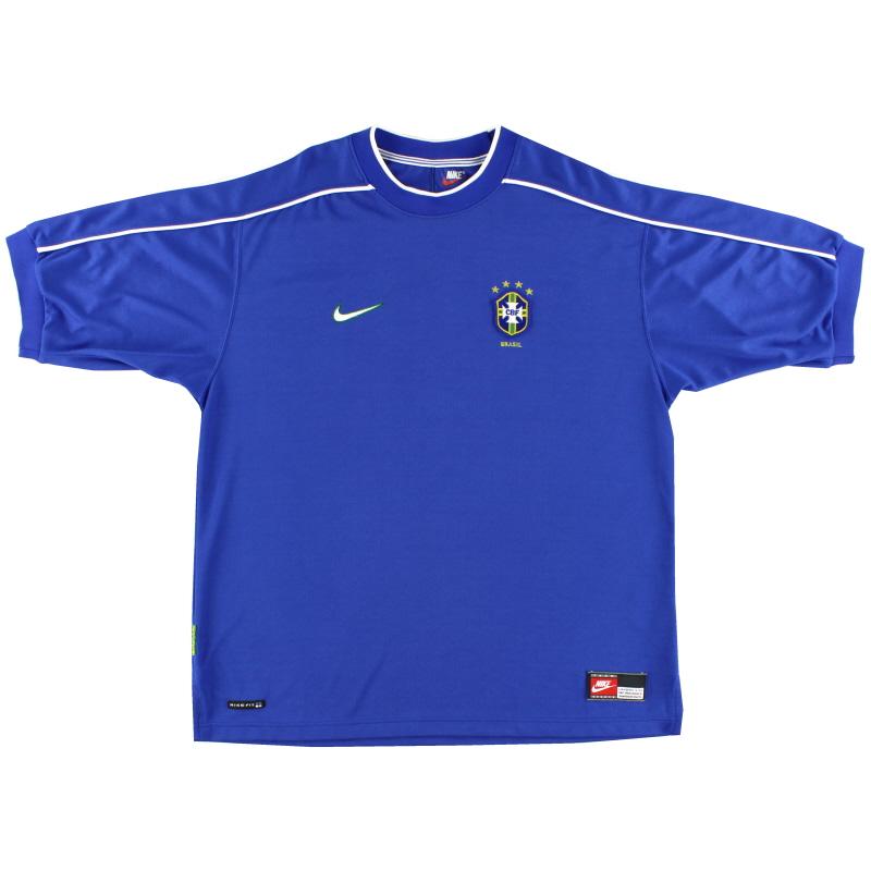 1998-00 Brazil Away Shirt *Mint* XL