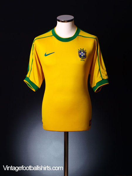 1998-00 Brazil Home Shirt M