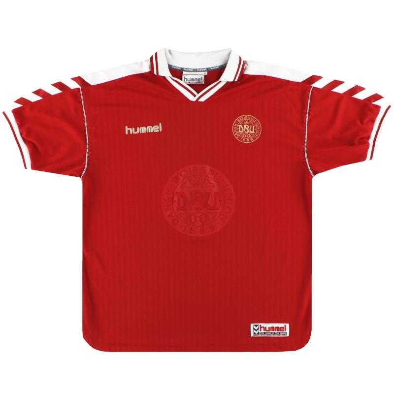 1998-00 Denmark Hummel Home Shirt XS