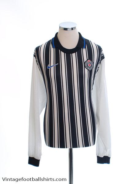 1998-00 FK Partizan Home Shirt L/S *Mint* XL