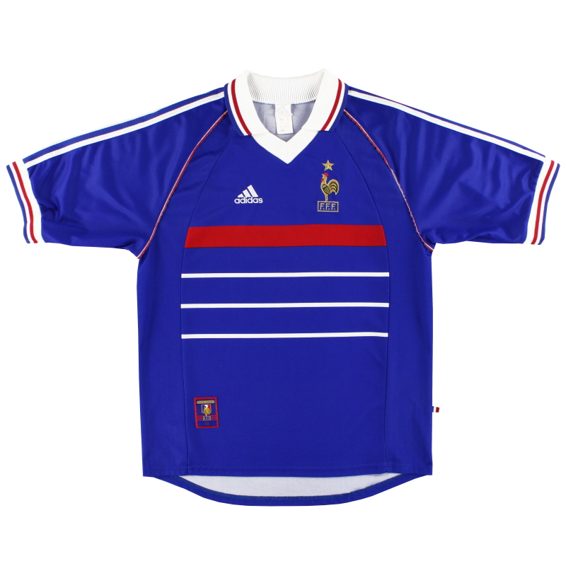1998-00 France adidas Home Shirt XL - 604870