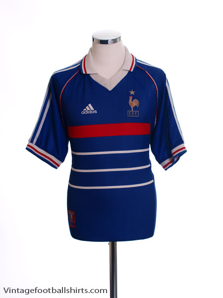 1998-00 France Home Shirt S