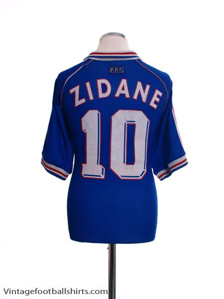 1998-00 France Home Shirt Zidane #10 M