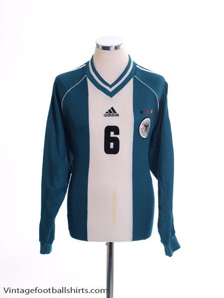 1998-00 Germany Match Issue Away Shirt #6 L/S L