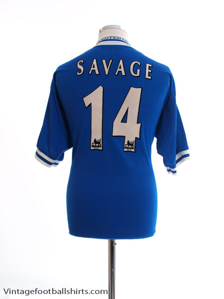 1998-00 Leicester Home Shirt Savage #14 M