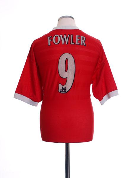1998-00 Liverpool Home Shirt Fowler #9 L
