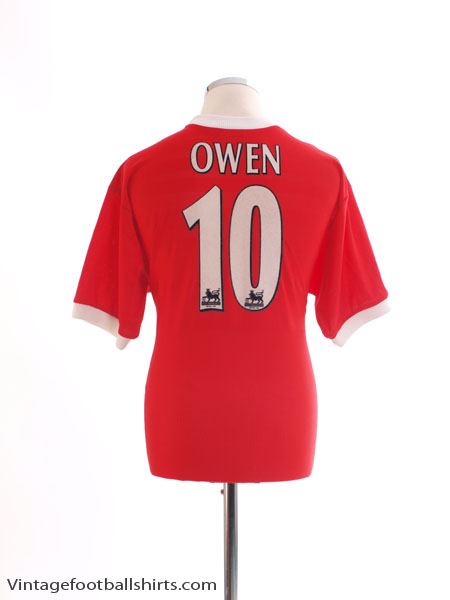 1998-00 Liverpool Home Shirt Owen #10 M