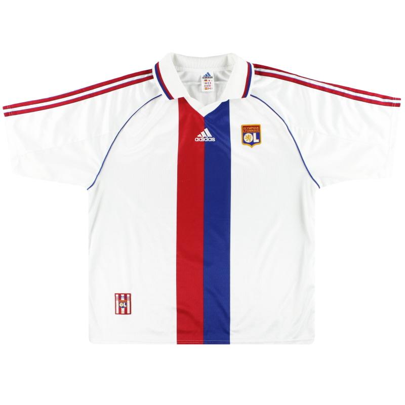 1998-00 Lyon adidas Home Shirt XL - 612686