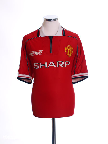 1998-00 Manchester United 'CL Winners' Home Shirt L