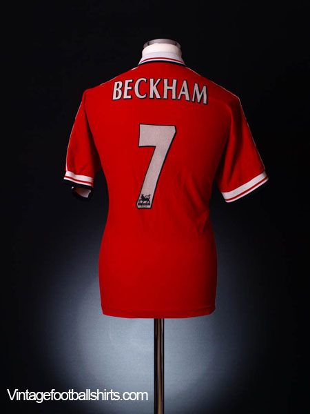 1998-00 Manchester United Home Shirt Beckham #7 M