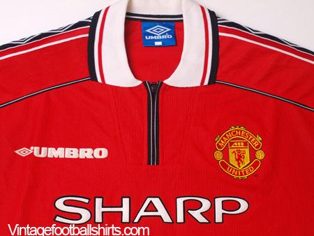 240077fcd2c 1998-00 Manchester United Home Shirt Beckham  7 M for sale