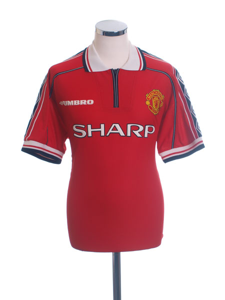1998-00 Manchester United Home Shirt L