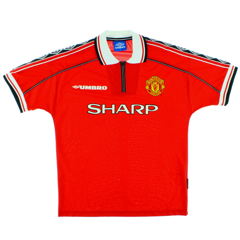 1998-00 Manchester United Home Shirt Butt #8 XL - 735360