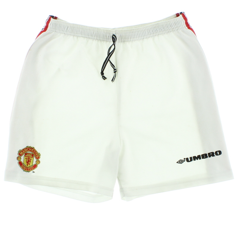 1998-00 Manchester United Home Shorts S