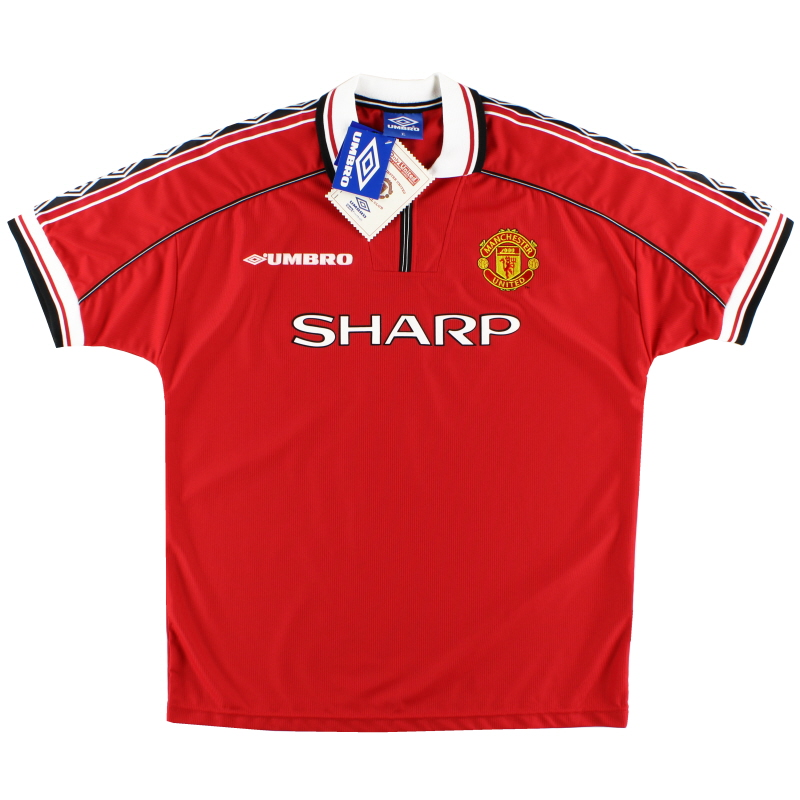 1998-00 Manchester United Home Shirt *w/tags* XL - 735360