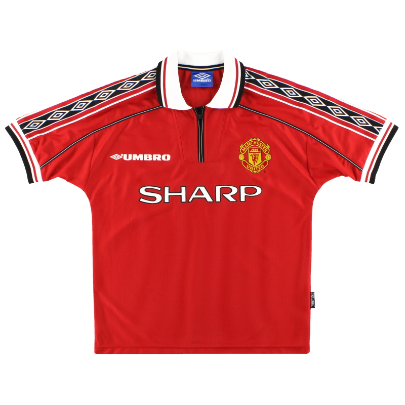 1998-00 Manchester United Umbro Home Shirt *As New* Y - 735360