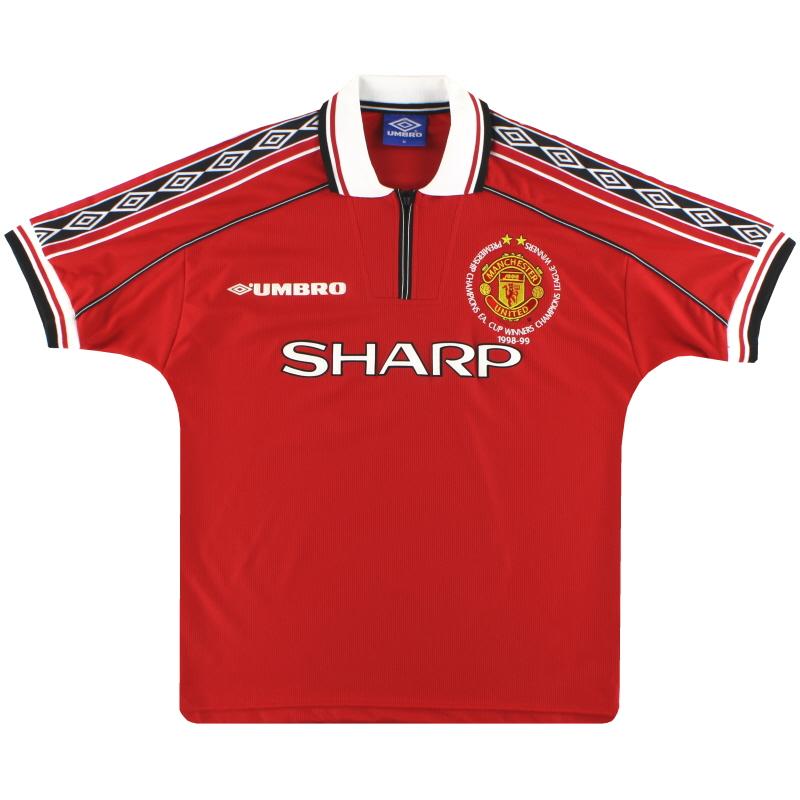 1998-00 Manchester United Umbro 'Treble Winners' Home Shirt *Mint* M