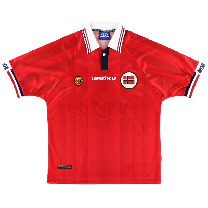 1998-00 Norway Umbro Home Shirt Y