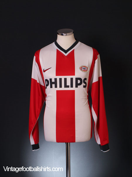 1998-00 PSV Player Issue Home Shirt L