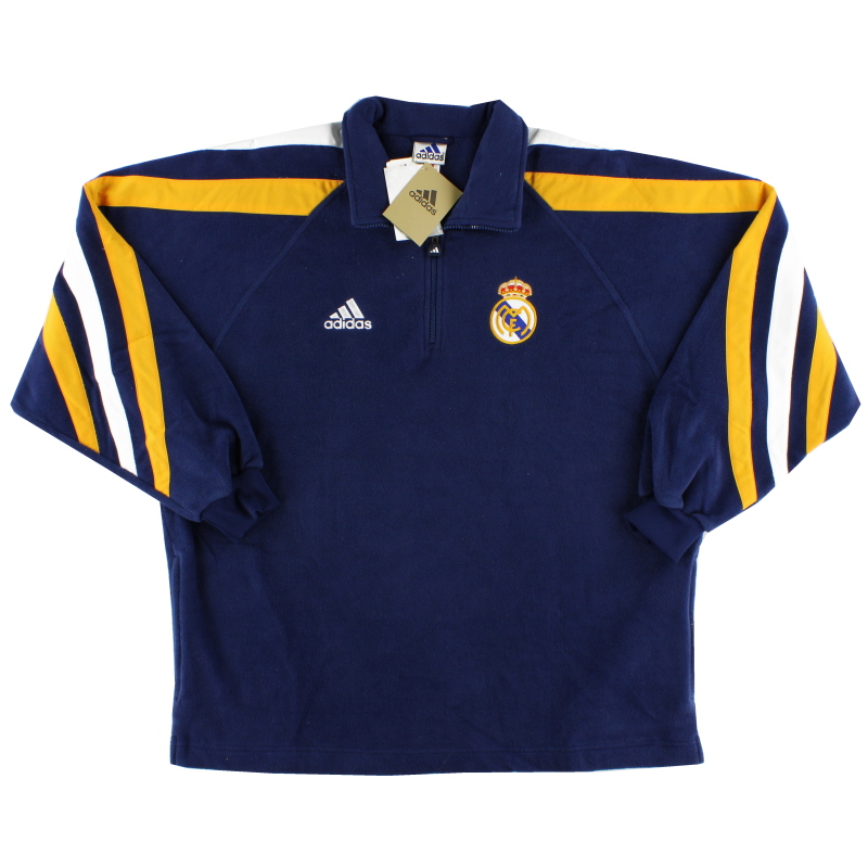 1998-00 Real Madrid adidas 1/4 Zip Fleece Top *BNIB* L - 612913
