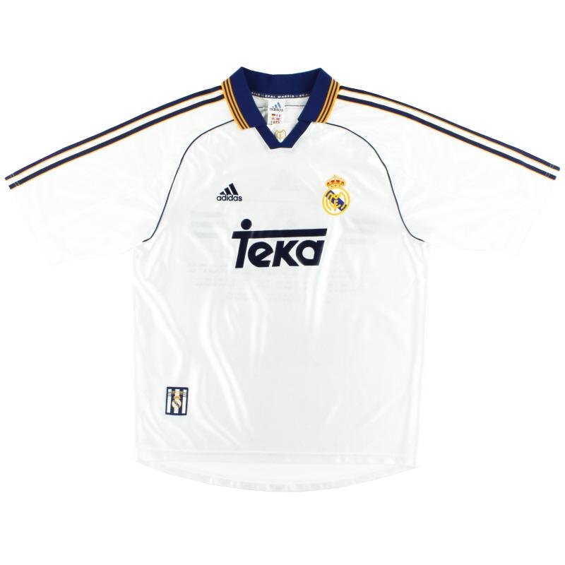 1998-00 Real Madrid adidas Home Shirt S