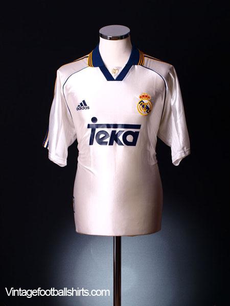 1998-00 Real Madrid Home Shirt L