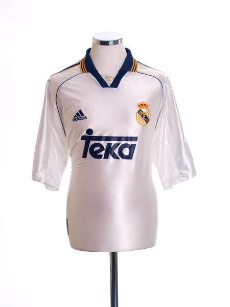 1998-00 Real Madrid Home Shirt *Mint* M