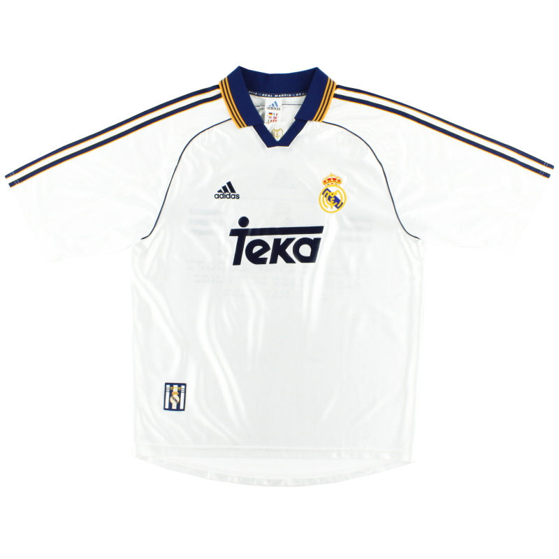 1998-00 Real Madrid adidas Home Shirt *Mint* L