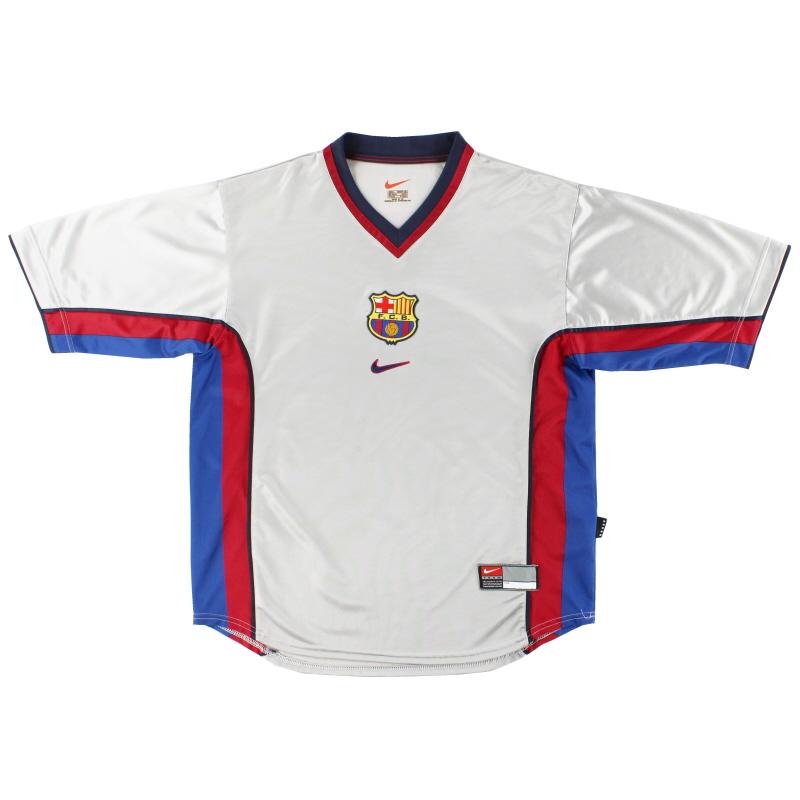 1998-01 Barcelona Away Shirt L