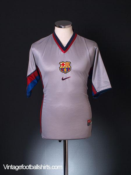 1998-01 Barcelona Away Shirt M