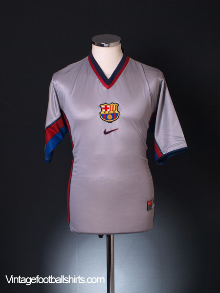 1998-01 Barcelona Away Shirt XL