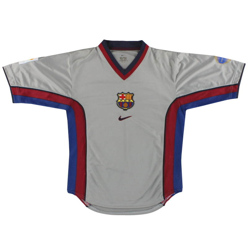 1998-01 Barcelona Nike Player Issue Away Shirt S