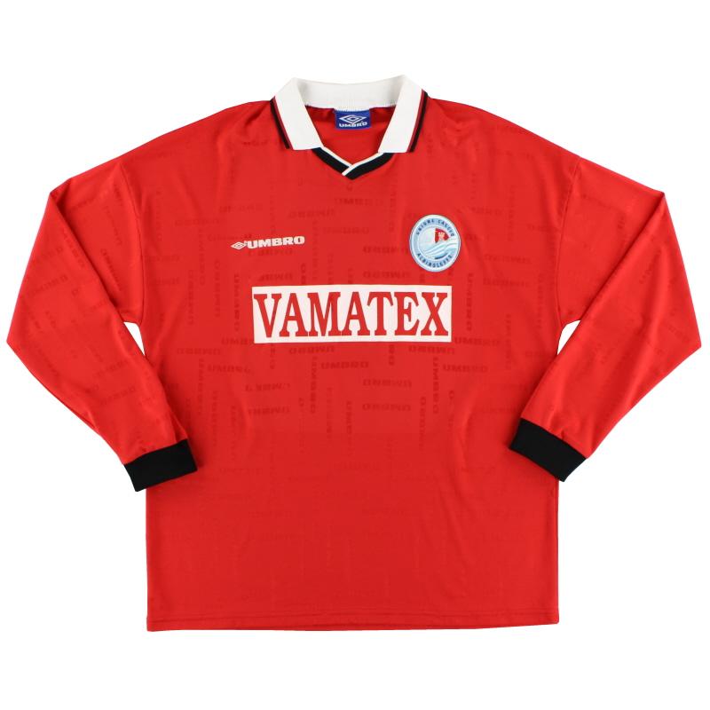 1998-99 AlbinoLeffe Match Issue Away Shirt #3 L/S XL