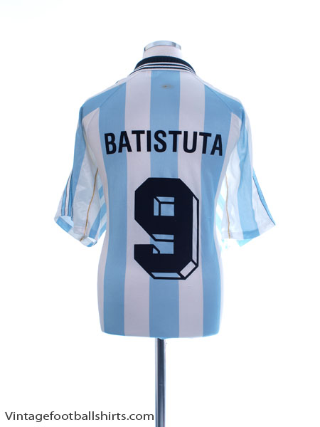 1998-99 Argentina Home Shirt Batistuta #9 XL