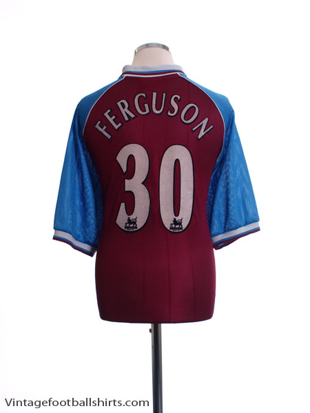 1998-99 Aston Villa Home Shirt Ferguson #30 XL