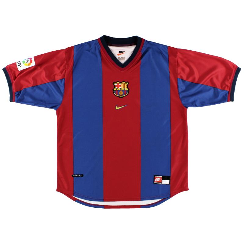 1998-99 Barcelona Home Shirt *Mint* L - 154889 655