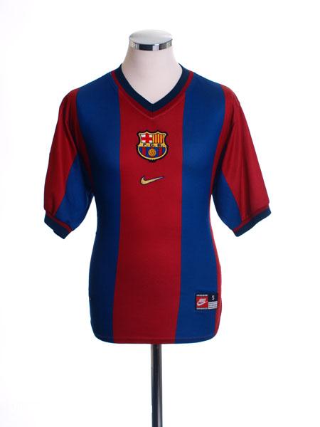 1998-99 Barcelona Home Shirt M